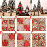 12PCS Christmas Hanging Decor Wooden Snowflakes Pendants Xmas Tree Ornaments