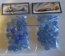 2 BAGS OF MEMPHIS BELLE / B-17 FLYING FORTRESS PLANE ADVERTISING PROMO MARBLES