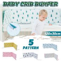 25mm Infant Newborn Baby Crib Bumper Comfy Cushion Pad Nursery Bedding