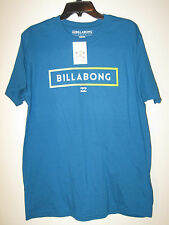 Billabong Crew Neck Short Sleeve Tshirt NWT L 100% Premium Cotton Blue