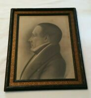 Antique Art Charcoal Portrait Drawing c.1880 Signed & Dated