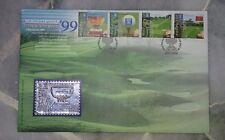 Royal Selangor Premier Pewter Stamp FDC - 1999 World Cup Golf