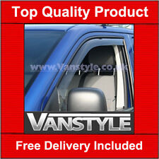 VW T5 TRANSPORTER GENUINE CLIMAIR FRONT WIND DEFLECTORS TOP QUALITY 2003 ON TINT