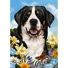 Summer Garden Flag - Greater Swiss Mountain Dog 181441