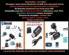 Récepteur audio stéreo bluetooth clé usb + prise jack 3.5mm