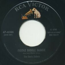 """THE DAVIS SISTERS Fiddle Diddle Boogie/Come Back To Me 7"""" 1955 RCA Victor EX"""