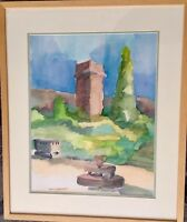 EXQUISITE WATERCOLOR PAINTING ORIGINAL RARE ART SIGNED BY ACTOR FRANCES WORMSER