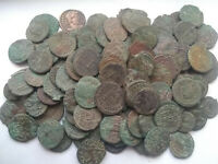 Random lot of 3 original Ancient Roman imperial coins not cleaned you identifiy