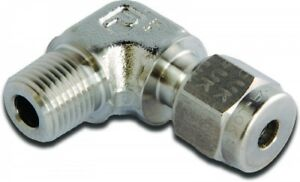 """M10MSEL1/2N-316 Parker A-LOK Metric Elbow Connector Tube O.D 10mm NPT 1/2"""""""