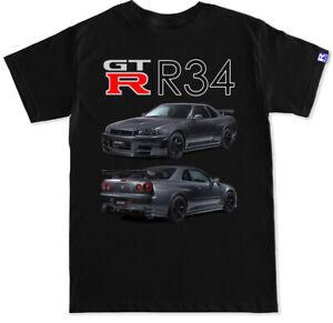Nissan GTR R34 Nismo front back black T Shirt