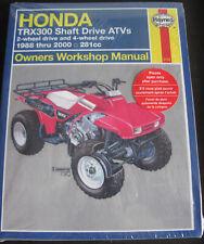 Honda TRX300 Shaft Drive ATVs. Haynes Owners Workshop Manual. As New.