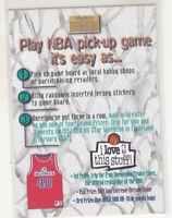 CALBERT CHEANEY 1996-97 Skybox Premium NBA Pick-Up Game Sticker #29 Bullets Mint