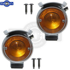 69 Coronet Front Bumper Parking Marker Turn Light Lamp Housing Amber Lens - PAIR