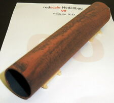 """Redscale 9033 - Steel Pipe 5"""" x 1"""" - Rusted Wagon Load 00 Gauge 1st Class Post"""
