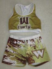 """Authentic 2 piece cheerleader uniform """"Warriors""""."""