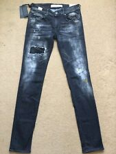 "REPLAY MAESTRO ROSE Women's Skinny-Fit Black Jeans, W30"", L34"", RRP£195"