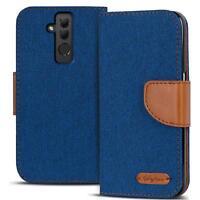 Handy Tasche für Huawei Mate 20 Lite Book Case Hülle Klapphülle Flip Cover Blau