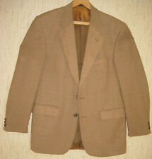 Alexandre London Herren Sakko Tweed Jacket Jacke Anzug Karo 50 beige braun w NEU