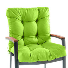 Lime High Back Garden Chair Cushion Pad Waterproof Seat Pad Dining Outdoor