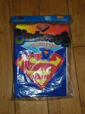 WB 2000 Child Superman Underoos Underwear Set L 8  T-Shirt & Brief DC Comics 1B
