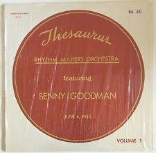 BENNY GOODMAN Thesaurus Rhythm Makers 1935 Vol 1 Pee Wee Erwin LP SB 101