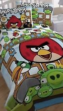 Angry Birds 9 Pc Full Reversible Comforter Sheets Wall Decal Set NIP Cotton Rich