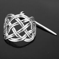 Slide Pin Irish Antique Silver Hair Stick Celtic Knot Viking Jewelry Hairpin