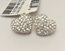 Earrings $125 NWT Gold-Filled Sterling Silver Crystal Cluster HEART Stud DJ37