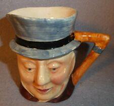 "Toby Jug Head Mug Beswick England 674 Handle 3.5"" Milk Creamer Pitcher Blue Hat"