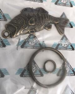 North American Fishing Club Members Only Bass Fish Key Chain NIP Largemouth USA