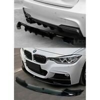 BMW 3er F30 F31 M Performance Rear Bumper Diffuser + Front Splitter Gloss Black