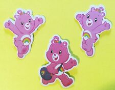 Care Bear Purple Bear on the Rainbow trail licensed sticker love /& kindness