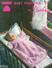 Crochet PATTERNS Baby Christening Coat Gowns Buggy Set Sweaters Knitting BOOK