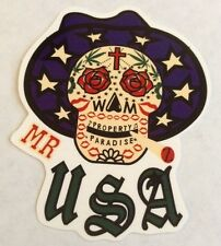 Pegatina/sticker/autocollant/ GLOSSY: Mr. USA / Property Paradise/ Tatoo/Skull