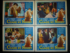 1952 CLASH BY NIGHT VINTAGE 8 LOBBY CARD SET - FRITZ LANG NOIR - MARILYN MONROE