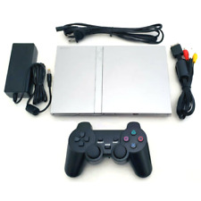 PlayStation 2 PS2 Slim Silver Console System DualShock *CLEAN IN/OUT VG