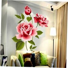 Large Rose Flower Wall Stickers Removable Decal Home Decor DIY Art Decoration