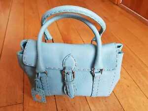 Fendi Handbag Pastel Blue Selleria Mini Linda Tote Bag