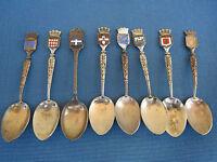 lot de petites cuillères de collection/france/monaco/paca/émail/métal argenté