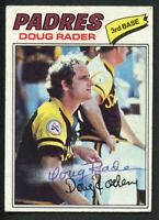 Doug Rader #9 signed autograph auto 1977 Topps Baseball Trading Card