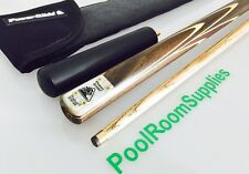 POWERGLIDE Tournament Status Ash Pool Cue With Extension and Soft Cue Case *NEW*