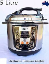 NEW  Stainless Steel Electric Pressure Cooker 5L Non-Stick 900W.