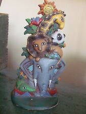 Midwest of Cannon Falls Zoo Animal Door Stopper Book End, Elephant/Lion/Panda