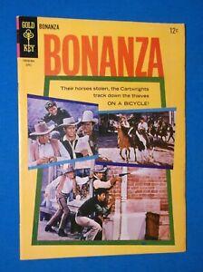 BONANZA # 13 - FINE+ 6.5 - 1965 PHOTO COVER - LORNE GREENE, MICHAEL LANDON