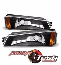 Blk 2002-2006 Chevy Avalanche w/Body Cladding Bumper Parking Lamps Signal Lights