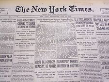 1930 JULY 30 NEW YORK TIMES - TRAFFIC LIGHTS TO STAGGER TODAY - NT 4186