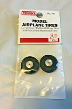 "Perfect Parts Model Airplane Rubber Balloon Tires Aluminum Wheels 3/4"" Dia."