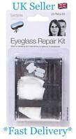 23pc Eyeglass Sun Glasses Screw Nose Pad Tube Optical Repair Tool Assortment Kit