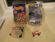 1990s HOT WHEELS Toys r us Indy Car & MacDonalds C Mac Dragster Baged Tow MOC