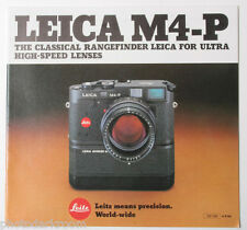 Leica M4-P Camera Sales Brochure Literature 1981 110-130 - English - USED B27